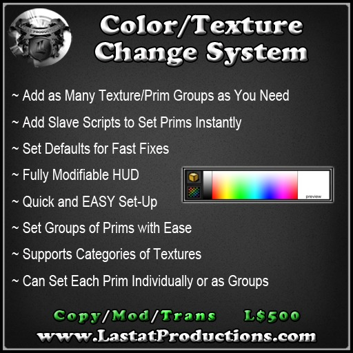 Color/Texture Change System For Builders