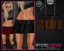 Simplecandy - Mesh Trip Skirt [Brown] *PROMO*