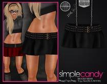Simplecandy - Mesh Trip Skirt [Black]