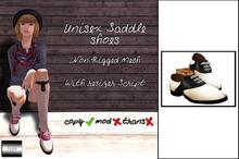 """Unisex Saddle Shoes """"Classic Black"""" (mesh) - even.flow"""