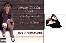 "Unisex Saddle Shoes ""Classic White"" (mesh) - even.flow"