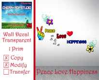 [CPS] Peace Love Happiness Decal