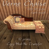 Domicile: Verne Chaise with sit pose (dark wood)