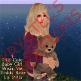 TB5 Cute Baby Girl Teddy Bear (Wear Me)