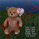 TB2 Cute Baby Boy Teddy Bear with Balloon (Rezz Me)