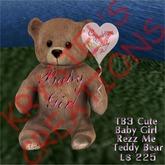TB3 Cute Baby Girl Teddy Bear with Balloon (Rezz Me)