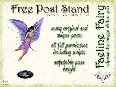 FREE Full Perm Pose Stand (for fairies)