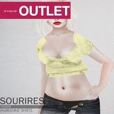SOURIRES - Marianne Shirt - YELLOW (Femme)