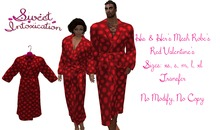 ::Sweet Intoxication:: His & Her Bathrobe - Red Valentine