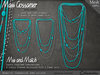 Necklace - Babette Turquoise and Silver Set - Combo Sets and Single Strands (V1)