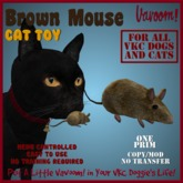 Brown Mouse Pet Toy By Vavoom! Boxed - Toys and Accessories for Virtual Kennel Club (VKC®) Pets - No Training REquired