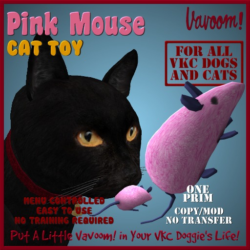 Pink Mouse Pet Toy By Vavoom! Boxed - Toys and Accessories for Virtual Kennel Club (VKC®) Pets