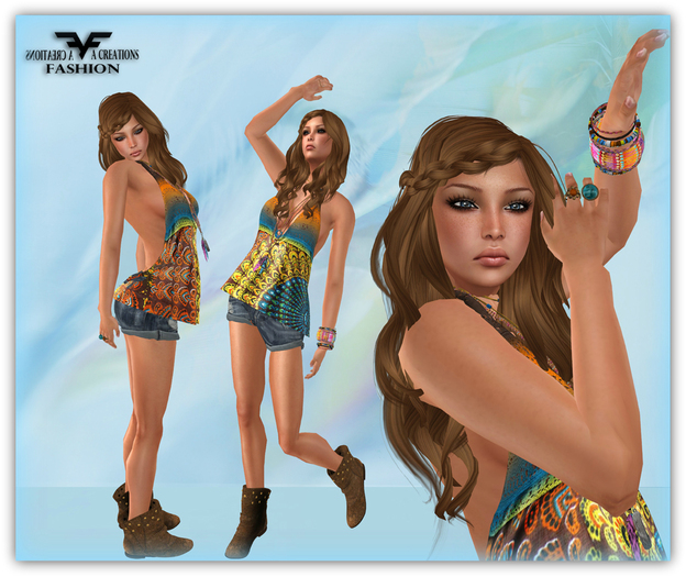 99 L$ SALE!!! ::FAC:: River Outfit  [includes rigged mesh]