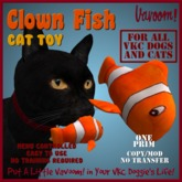 Clown Fish Pet Toy By Vavoom! Boxed - Toys and Accessories for Virtual Kennel Club (VKC®) Pets - No Training Required