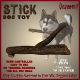Stick Pet Toy by Vavoom! Boxed - Toys and Accessories for Virtual Kennel Club (VKC®) Pets - No Training Required
