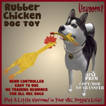 Rubber Chicken Pet Toy by Vavoom! Boxed - Toys and Accessories for Virtual Kennel Club (VKC®) Pets -No Training Required