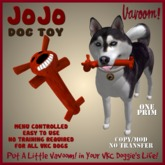 JoJo-Red Pet Toy By Vavoom! Boxed - Toys and Accessories for Virtual Kennel Club (VKC®) Pets - No Training Required