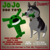 JoJo-Green Pet Toy By Vavoom! Boxed - Toys and Accessories for Virtual Kennel Club (VKC®) Pets - No Training Required