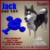 Jack-Blue Pet Toy By Vavoom! Boxed - Toys and Accessories for Virtual Kennel Club (VKC®) Pets - No Training Required