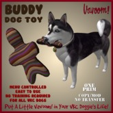 Buddy-Brown Pet Toy By Vavoom! Boxed - Toys and Accessories for Virtual Kennel Club (VKC®) Pets - No Training Required