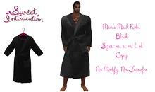::Sweet Intoxication:: Men's Mesh Robe- Black