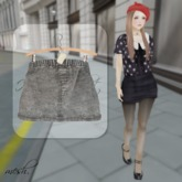 ''{ RoA }'' -High waist skirt (B)GY