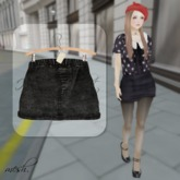 ''{ RoA }'' -High waist skirt (B)BK