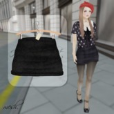 ''{ RoA }'' -High waist skirt (D)BK