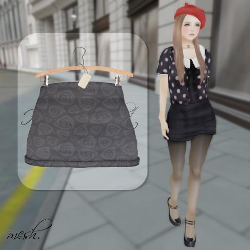 ''{ RoA }'' -High waist skirt (D)GY
