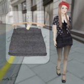 ''{ RoA }'' -High waist skirt (D)GY