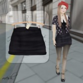''{ RoA }'' -High waist skirt (E)BK