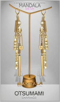 [MANDALA]Otsumami earring/GOLD
