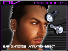 DV -Ear stud diamond male round