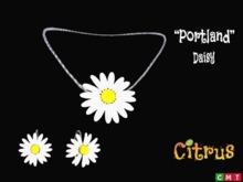 *Citrus* Portland Daisy Jewelry Set