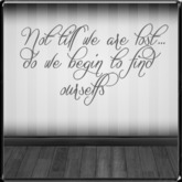 *~LT~* Find Ourselfs  Wall Art Decal