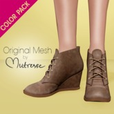 [COLOR PACK] Mutresse . Luba Wedges . Brown/Orange/Red/Yellow (Mesh)