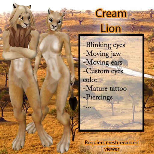 Furry Lion - Cream