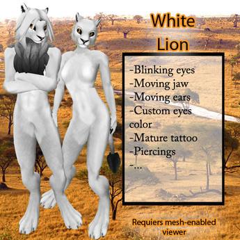 Furry Lion - White