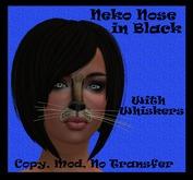 Neko Nose Tattoo in Black