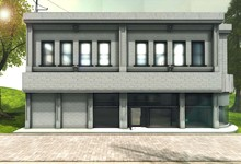 Blueberry Prefabs -Fully Mesh- Store Building (Classic Style) *High Quality*