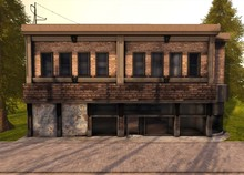 Blueberry Prefabs -Fully Mesh- Store Building (Urban Style) *High Quality*