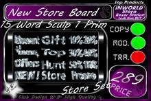 N.E.W. Store Board