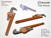 *M n B* Pipe wrench (meshbox)