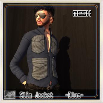 [M.o.w] Slim Jacket -Blue-  [Bag Wear]