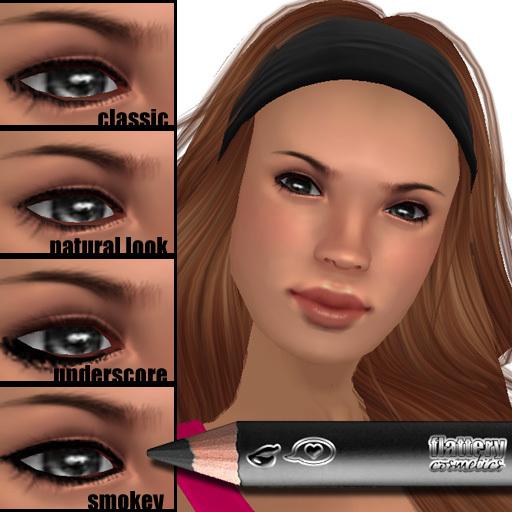 Wear it 4 ways! Flattery Cosmetics Eye Liner Pencil - Black