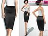 FULL PERM CLASSIC RIGGED MESH Women's Female Ladies Midi Pencil Skirt V.5 - 2 TEXTURES Black Purple