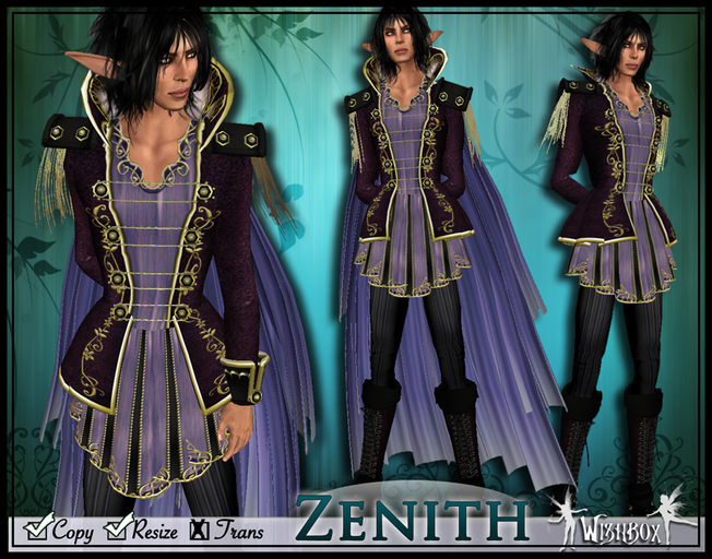 [Wishbox] Zenith - Men's Fantasy Outfit with Boots - Elf Drow Mage Formalwear Suit tagFantasy tagMed