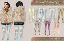 Wunderland - Stripped Woolen Tights FATPACK