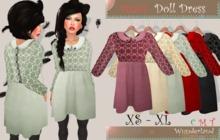 Wunderland - MESH Doll Dress FATPACK