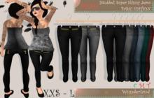 Wunderland - MESH Studded Super Skinny Jeans_Basic Edition FATPACK